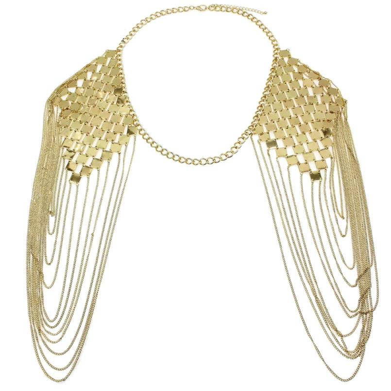 Long Shoulder Chain Necklace Shoulder Jewelry cb5feb1b7314637725a2e7: Gold|Silver