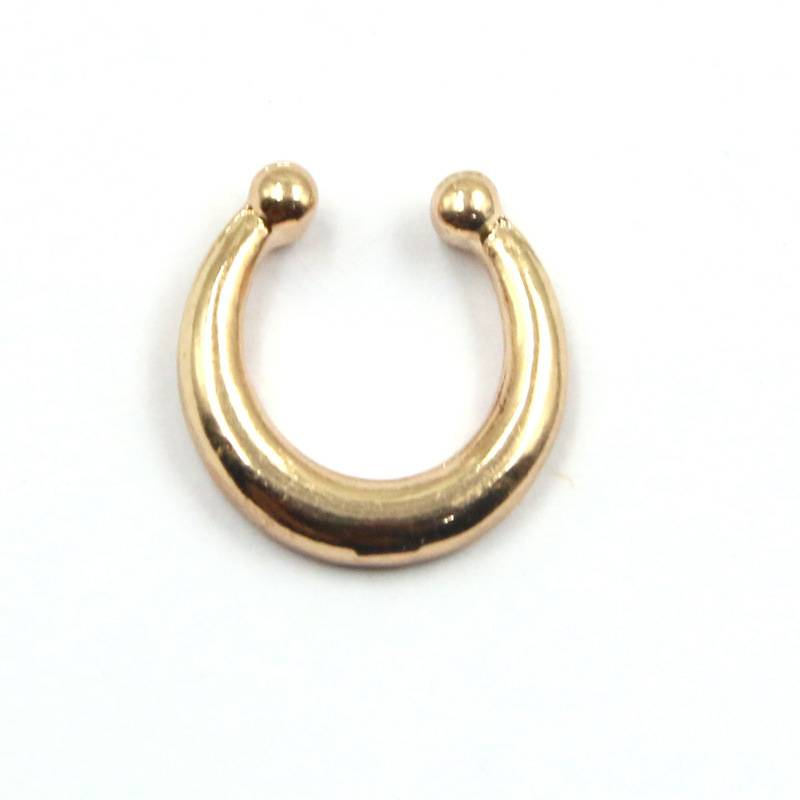 Women's Piercing Imitation Ring Pinchers & Spirals cb5feb1b7314637725a2e7: Black|Gold|Rose Gold|Silver