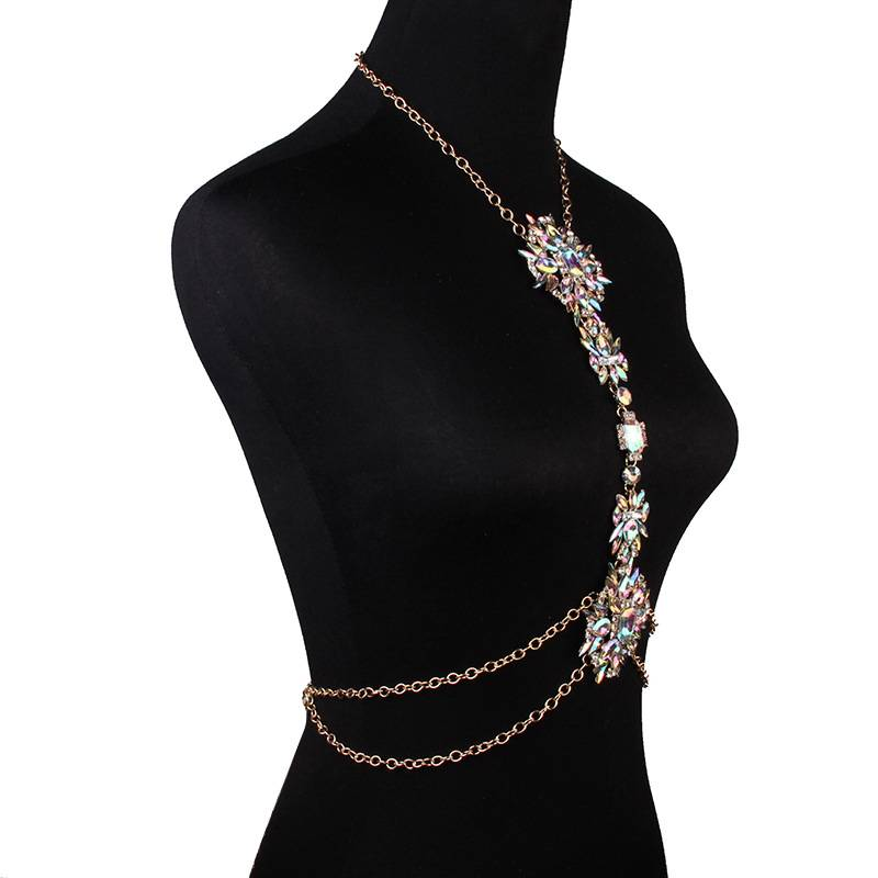 Women's Luxurious Bodychain Necklace Body Jewelry 8d255f28538fbae46aeae7: white
