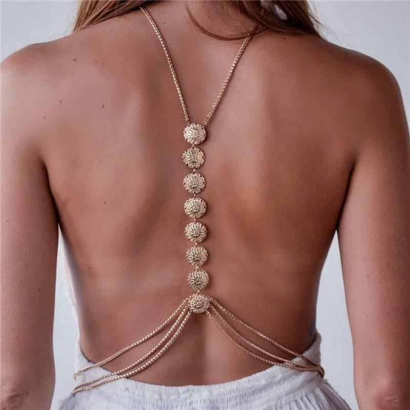 Women's Boho Back Jewelry Belt Body Jewelry 8d255f28538fbae46aeae7: Golden|Silver