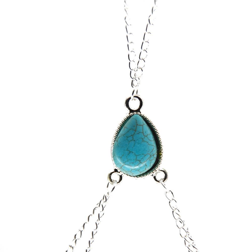 Women's Beach Body Chain Body Jewelry a4a426b9b388f11a2667f5: Blue|White