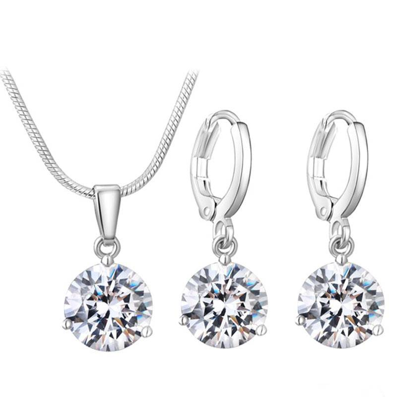 Women's Elegant Cubic Zirconia Crystal Jewelry Set Best Sellers Jewelry Sets cb5feb1b7314637725a2e7: Black|Blue|Blue 2|Brown|Dark Blue|Green|Light Blue|Light Pink|Lilac|Opal Pink|Pink|Purple|Red|Red 2|Red 3|Sky Blue|White|Wine Red|Yellow