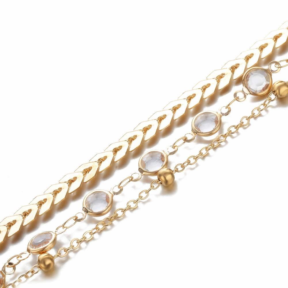 Women's Bohemian Crystal Multilayer Anklet Anklets 8d255f28538fbae46aeae7: Crystal Anklet|Gold Anklet|Silver Anklet