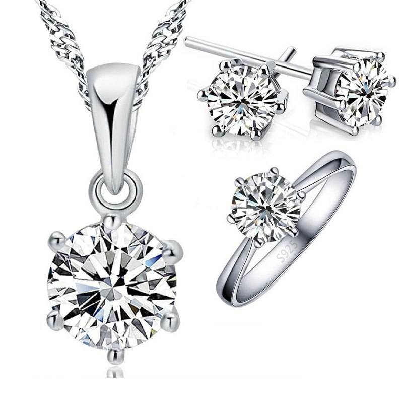 925 Sterling Silver Bridal Jewelry Set Jewelry Sets 8d255f28538fbae46aeae7: Ring`s Size 6|Ring`s Size 7|Ring`s Size 8|Ring`s Size 9