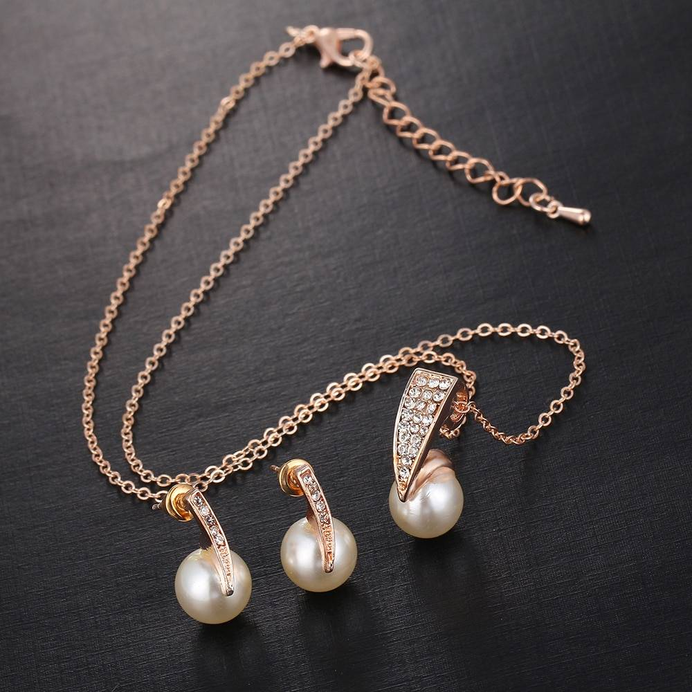 Women's Elegant Pearl Jewelry Set Jewelry Sets cb5feb1b7314637725a2e7: White