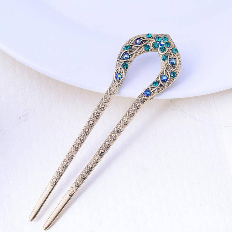 Women's Elegant Antique Hairpin Hair Jewelry cb5feb1b7314637725a2e7: Blue|Brown|Multicolored|Purple|Red