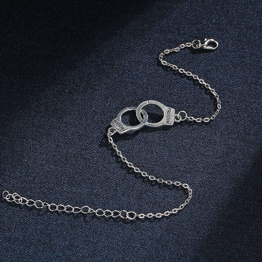 Women's Silver Handcuffs Shaped Anklet Bracelet Anklets cb5feb1b7314637725a2e7: Silver