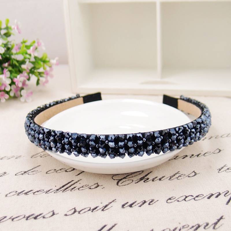 Women's Headband with Rhinestones Hair Jewelry cb5feb1b7314637725a2e7: Black|Blue|Gray|Khaki|Pink|Purple|White