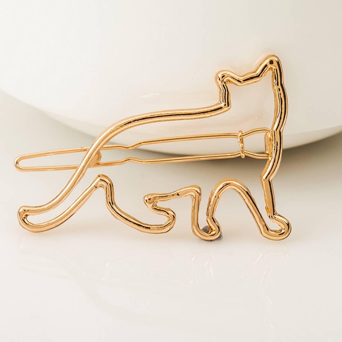 Cat Shape Girl's Hair Clip Hair Jewelry cb5feb1b7314637725a2e7: Gold|Silver
