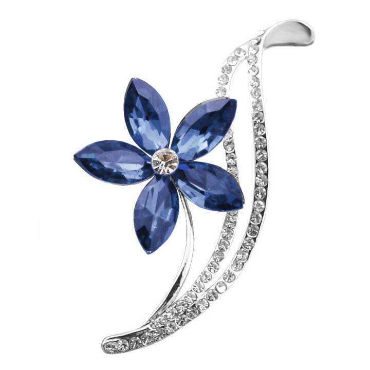 Elegant Flower Shaped Sparkling Metal Women's Brooch Brooches 71f85abf496894a9a41528: Blue|Gray|Light Red