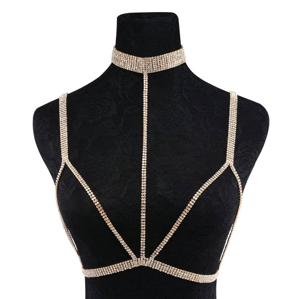 Sexy Multilayer Body Chain with Rhinestone Decorations Shoulder Jewelry cb5feb1b7314637725a2e7: Silver