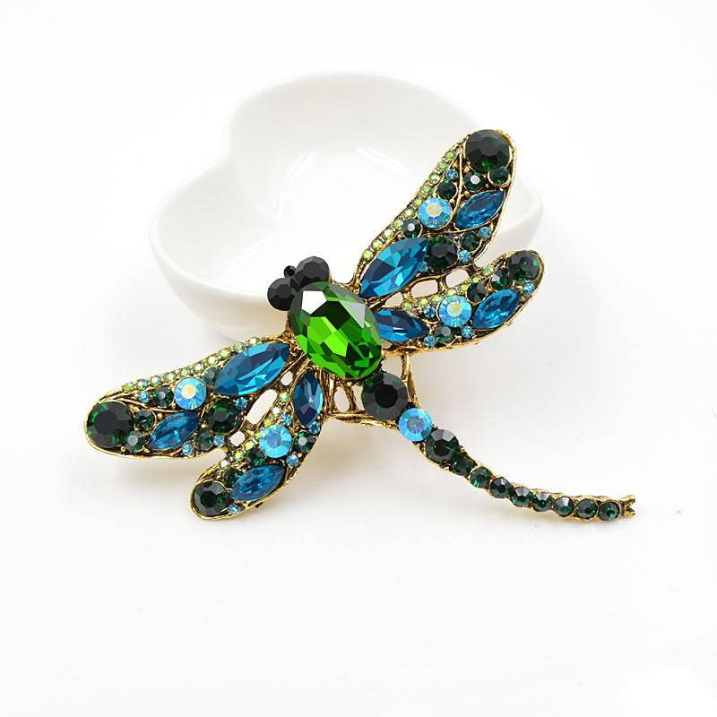 Crystal Vintage Dragonfly Brooches for Women Best Sellers Brooches cb5feb1b7314637725a2e7: Blue|Coffee|Green|Pink|Red|White