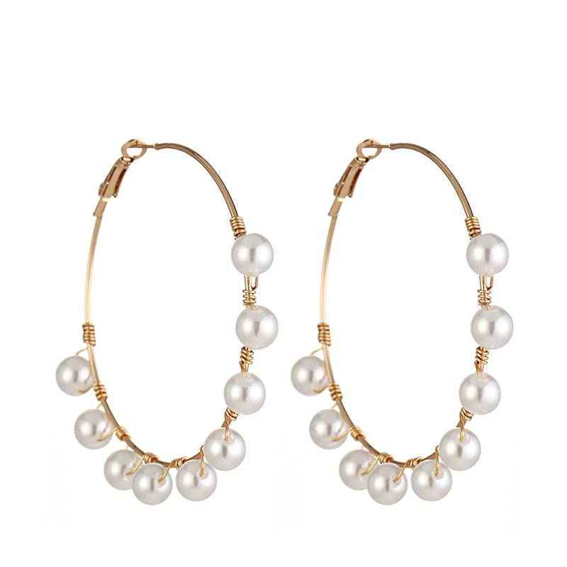 Simulated Pearl Big Round Earrings for Women Earrings New Arrivals ae284f900f9d6e21ba6914: 1|2|3|4
