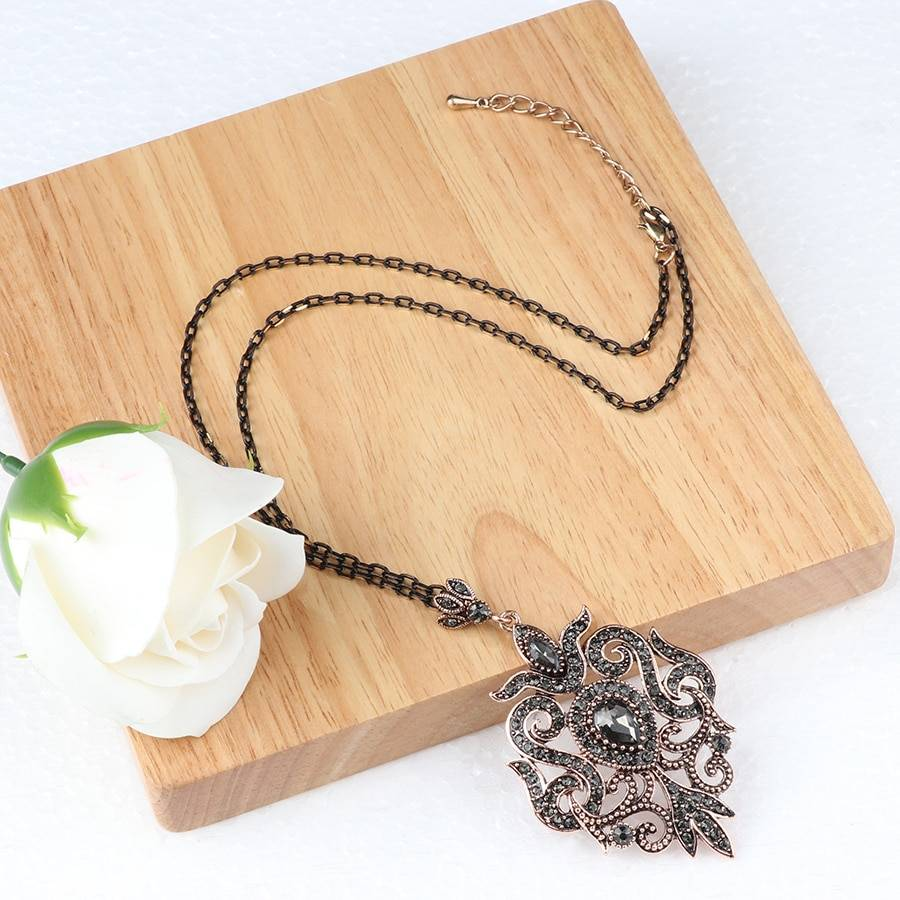 Women's Mist Stone Necklace Necklaces New Arrivals cb5feb1b7314637725a2e7: Antique Copper Plated|Antique Gold Plated|Gold|Light Yellow Gold|Rose Gold
