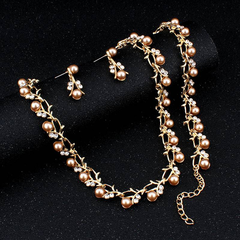 Women's Pearl Decorated Necklace and Earrings Jewelry Set Jewelry Sets a1fa27779242b4902f7ae3: 1|10|2|3|4|5|6|7|8|9