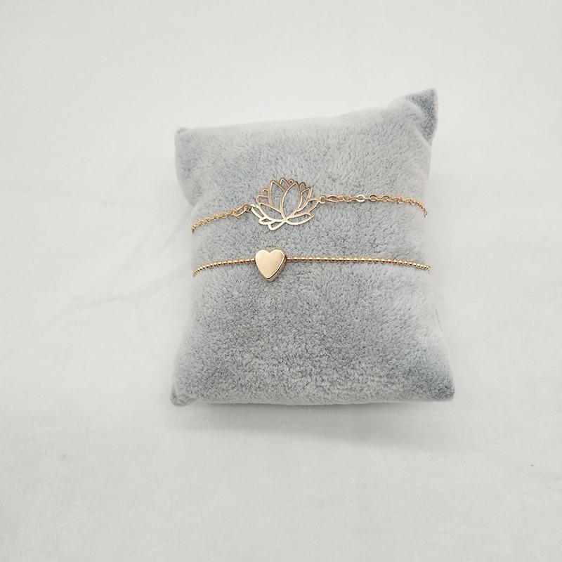 Link Chain Women's Bracelets 2 pcs Set
