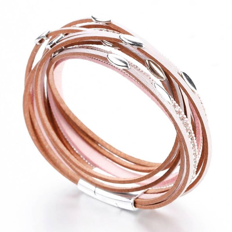Women's Boho Multilayered Wrap Bracelet Bracelets cb5feb1b7314637725a2e7: Black|Brown|Dark Brown|Gold|Gray|Pink|Silver|White