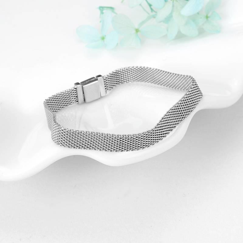 Women's 925 Sterling Silver Elastic Bracelet