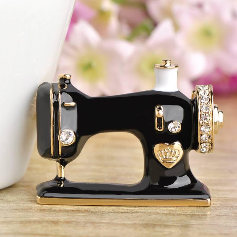 Women's Sewing Machine Brooch Brooches cb5feb1b7314637725a2e7: Black