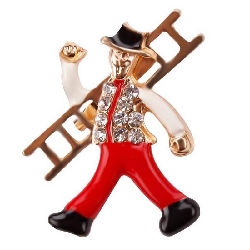 Women's Chimney Sweep Brooch Brooches cb5feb1b7314637725a2e7: Black|Red