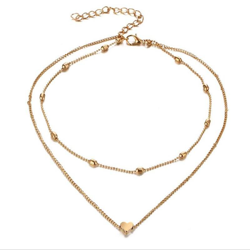 Women's Double Choker Necklaces Best Sellers Chokers & Pendants 8d255f28538fbae46aeae7: Gold|Silver