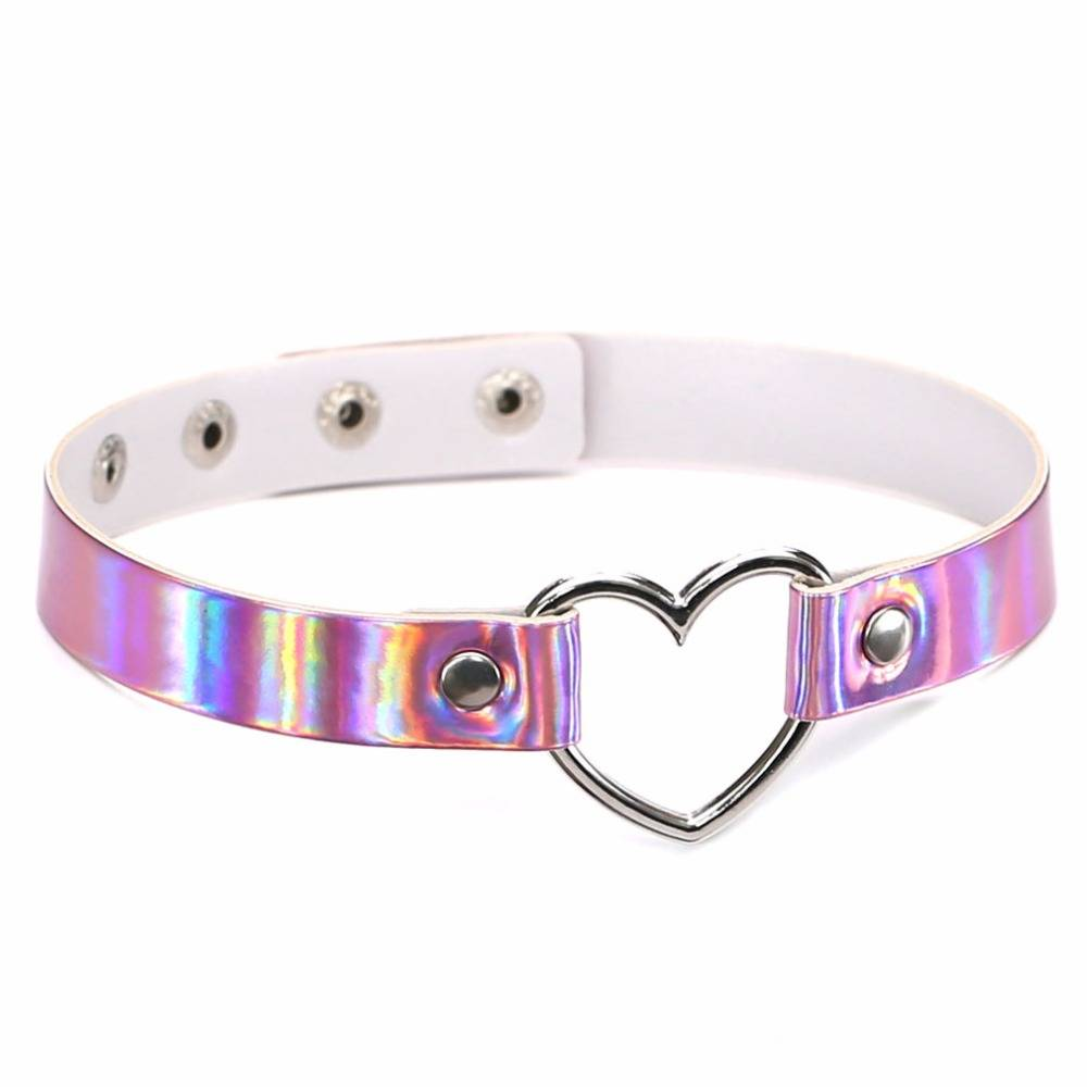 Women's Choker Necklace with Metal Heart Chokers & Pendants cb5feb1b7314637725a2e7: Blue|Gold|Pink|White