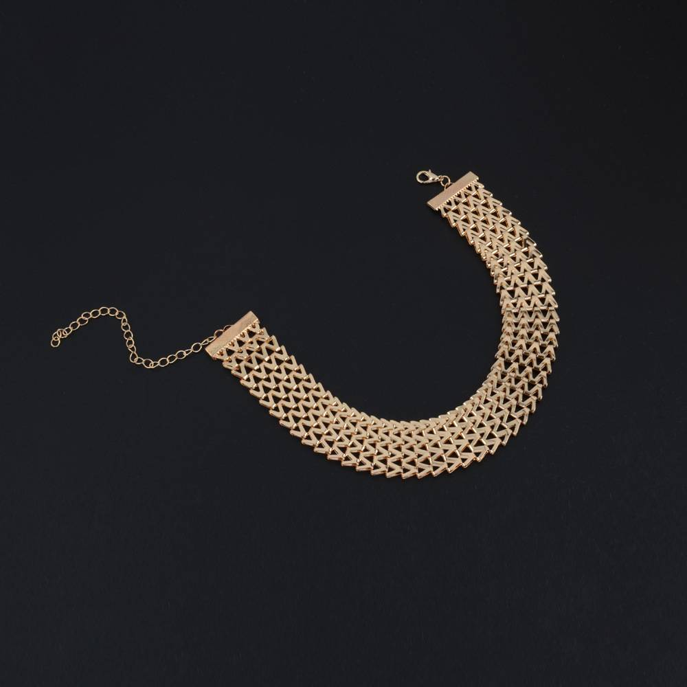 Fashion Wide Chain Choker Women's Necklace Chokers & Pendants 8d255f28538fbae46aeae7: Gold|Silver