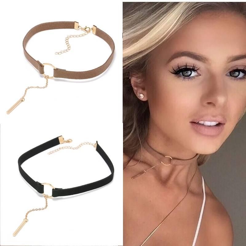 Stylish Leather Choker Necklace Chokers & Pendants dfe6076e1d429c24edcbb2: 1|2|3|4
