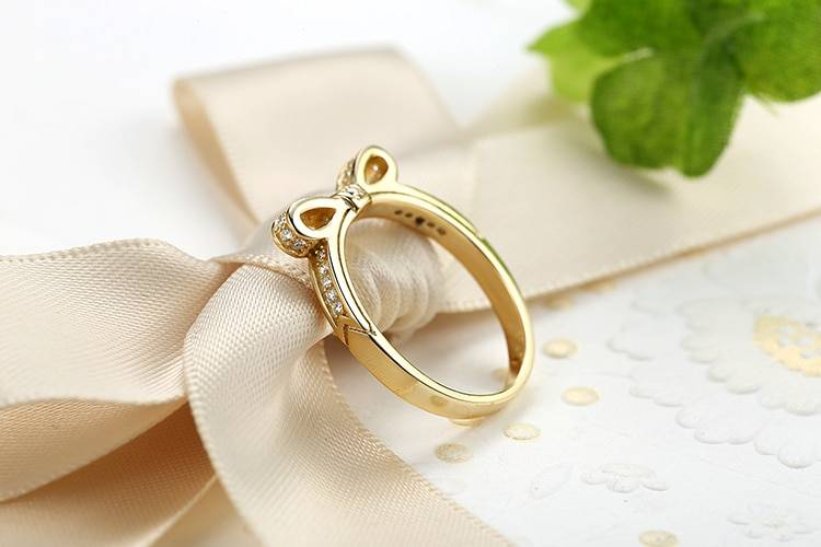 Women's Silver Sparkling Bow Knot Ring Rings 2ced06a52b7c24e002d45d: 6|7|8|9