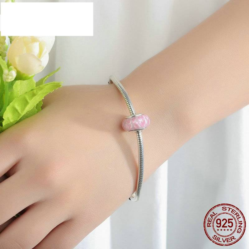 Lovely Colorful Sterling Silver Bracelet Charms Charms cb5feb1b7314637725a2e7: Blue|Dark Blue|Light Blue|Pink|Purple|Red|White