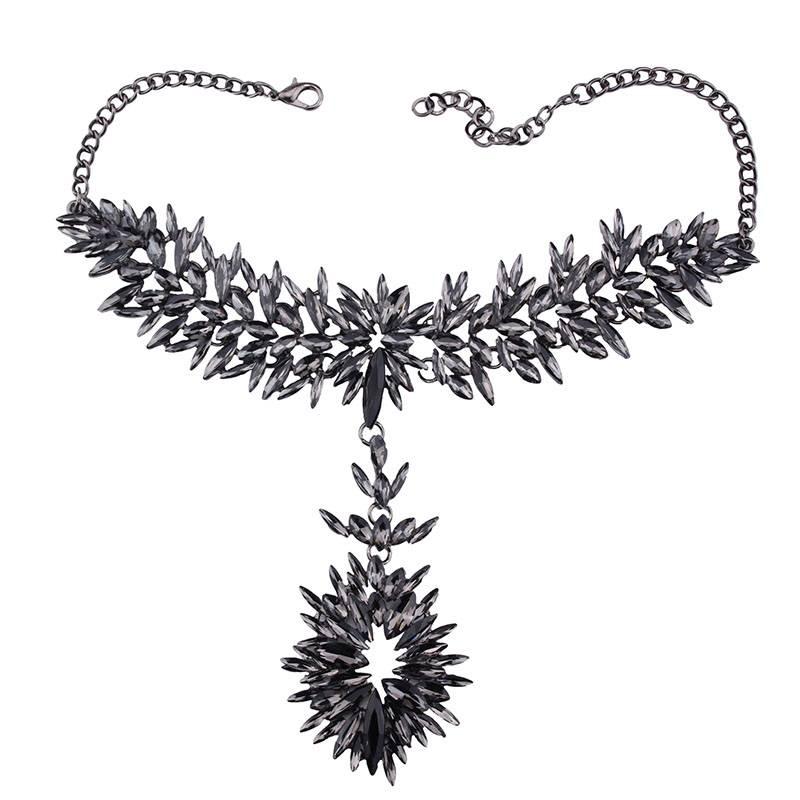 Boho Multi-Colored Crystal Choker Necklaces Chokers & Pendants cb5feb1b7314637725a2e7: AB Color Acrylic|AB Multi Crystal|Grey Crystal|White Crystal