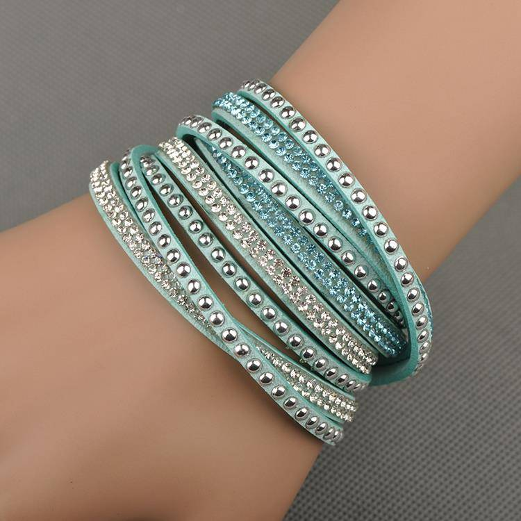 Cute Woman`s Multilayer Wrap Bracelet Bracelets Bracelets cb5feb1b7314637725a2e7: Black|Blue Zircon|Brown|Champagne|Dark Blue|Gray|Light Purple|Olive Green|Pink|Red|Turquoise|White