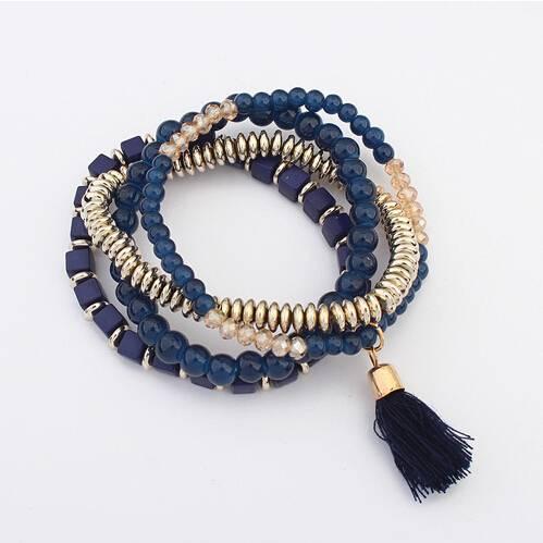 Ethnic Style Multilayer Beaded Bracelets Bracelets cb5feb1b7314637725a2e7: Black|Blue|Green|Red|Yellow