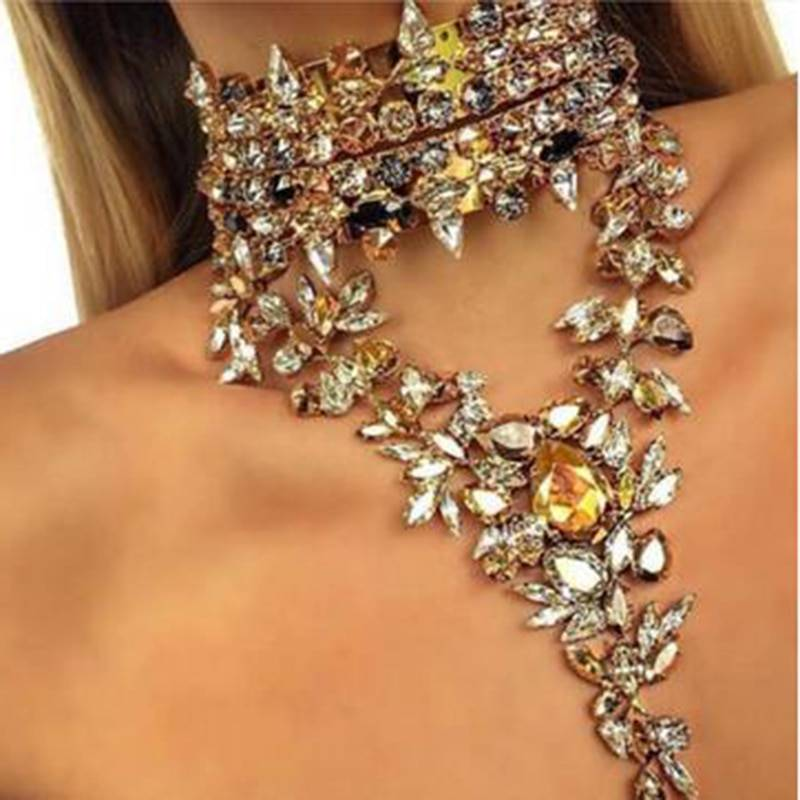 Fashion Crystal Chokers With Pendants Chokers & Pendants cb5feb1b7314637725a2e7: Grey|White|Yellow