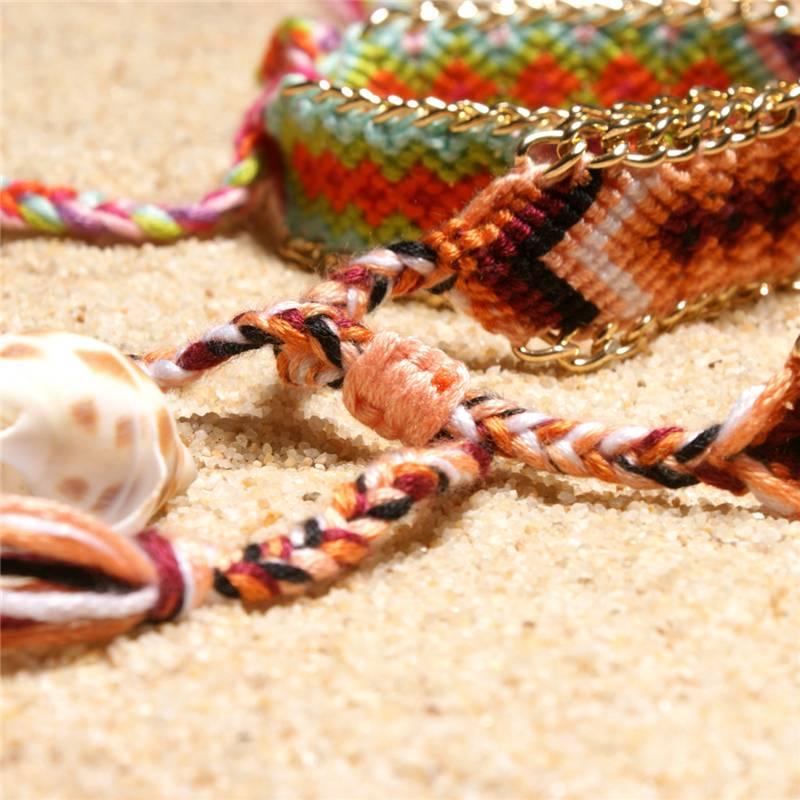 Handmade Woven Braided Bracelets Bracelets cb5feb1b7314637725a2e7: Black/White|Blue|Blue / Red|Brown|Colorful|Orange|Orange/Brown|Peach|Pink/Green|Purple/Yellow|Red/Blue|Red/Yellow|Yellow/Pink|Yellow/Red