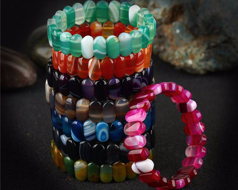 Luxury Blue Onyx Agat Bracelets Bracelets 8d255f28538fbae46aeae7: black agate|blue agate|green agate|pink agate|purple agate