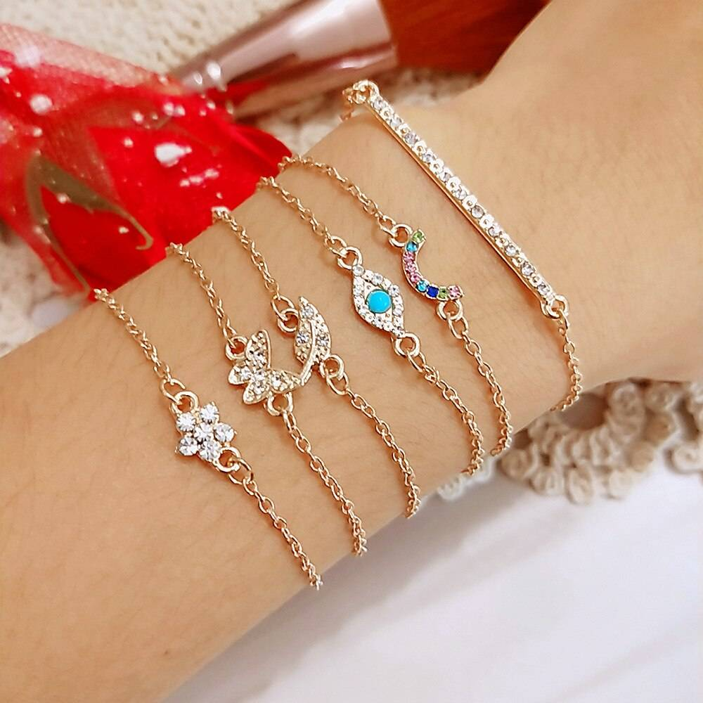 Minimalistic Bangle Bracelets Set