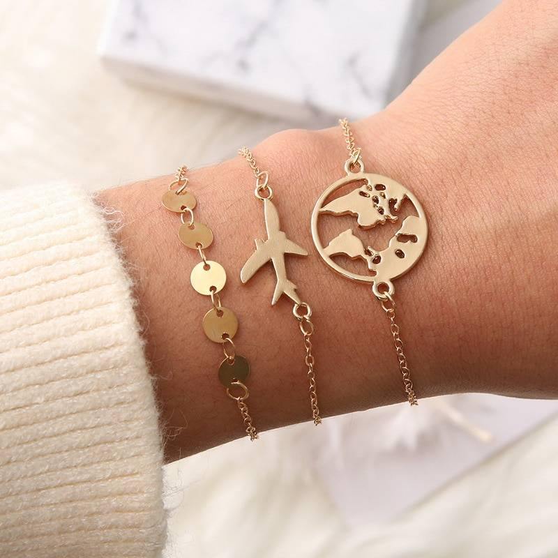 Minimalistic Link Chain Charm Bracelets Bracelets 8d255f28538fbae46aeae7: Gold