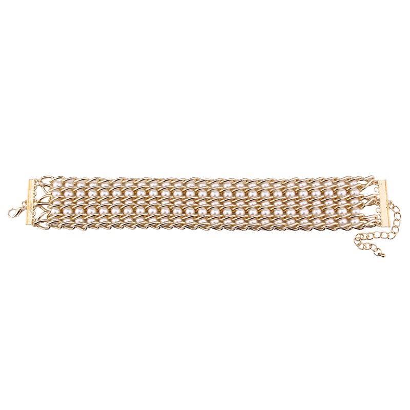 Pearl Mosaic Choker Necklace Chokers & Pendants cb5feb1b7314637725a2e7: Black Pearl|White Pearl
