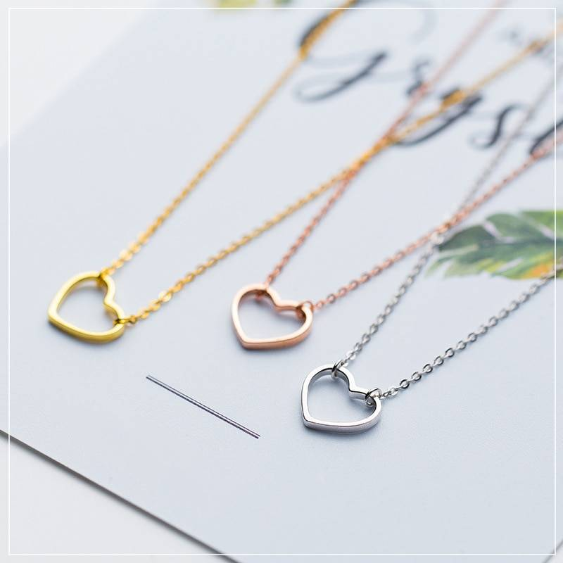Simple 925 Sterling Silver Chokers Chokers & Pendants cb5feb1b7314637725a2e7: Gold|Rose Gold|White