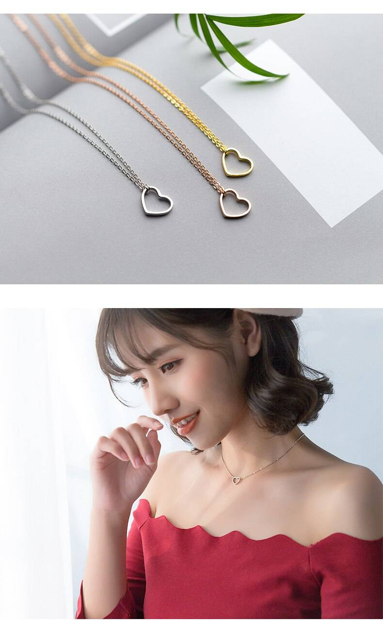 Simple 925 Sterling Silver Chokers