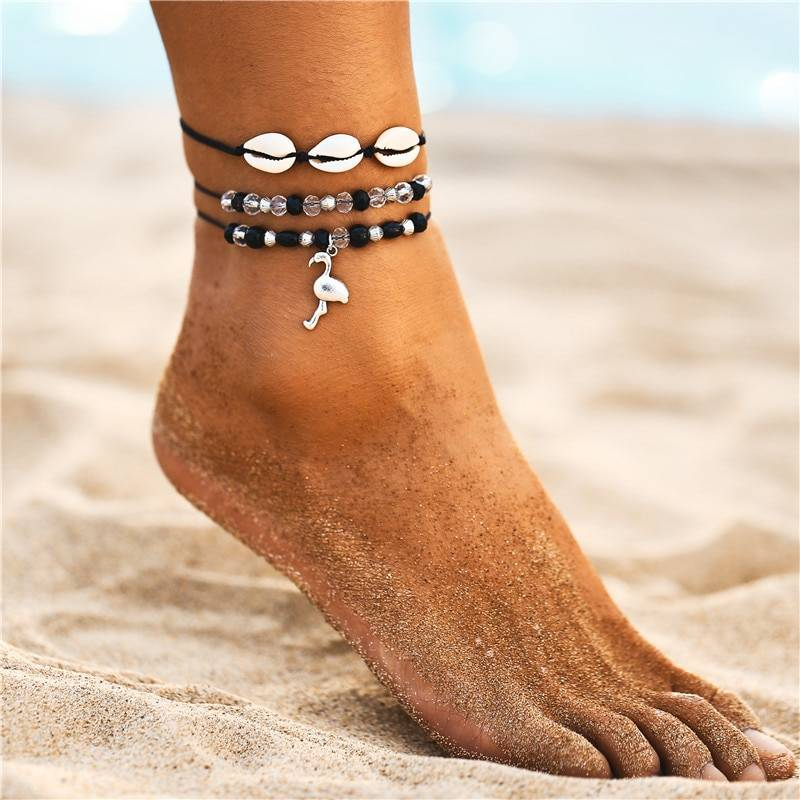Women's Boho Sea Shell Decorated Anklets Set Anklets a1fa27779242b4902f7ae3: 1|2|3|4|5|6|7