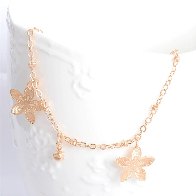Women's Gold Beach Anklets Anklets 880c1273b27d27cfc82004: Butterfly|Eiffel Tower|Sakura
