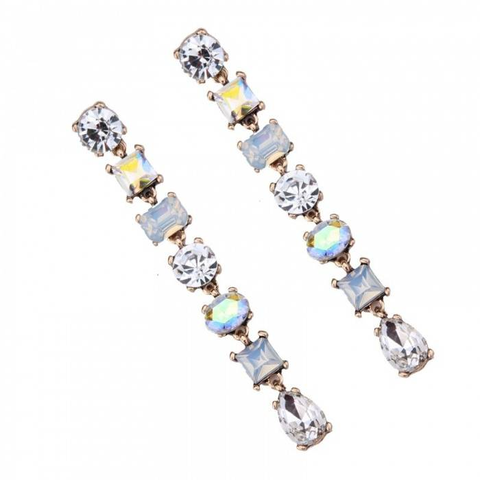 Women's Stylish Dangle Earrings with Colorful Rhinestones Earrings ae284f900f9d6e21ba6914: 1|2|3|4