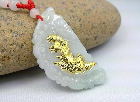 2 Pcs White Jade Couple Pendants Chokers & Pendants cb5feb1b7314637725a2e7: White