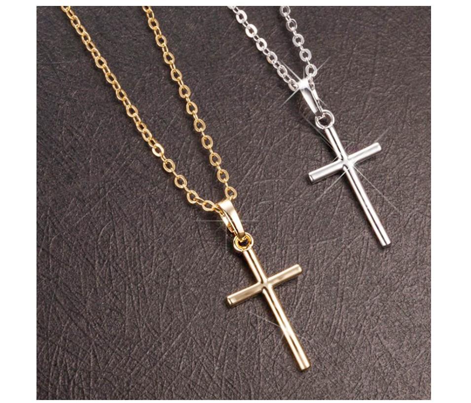 Women's Slim Cross Necklace