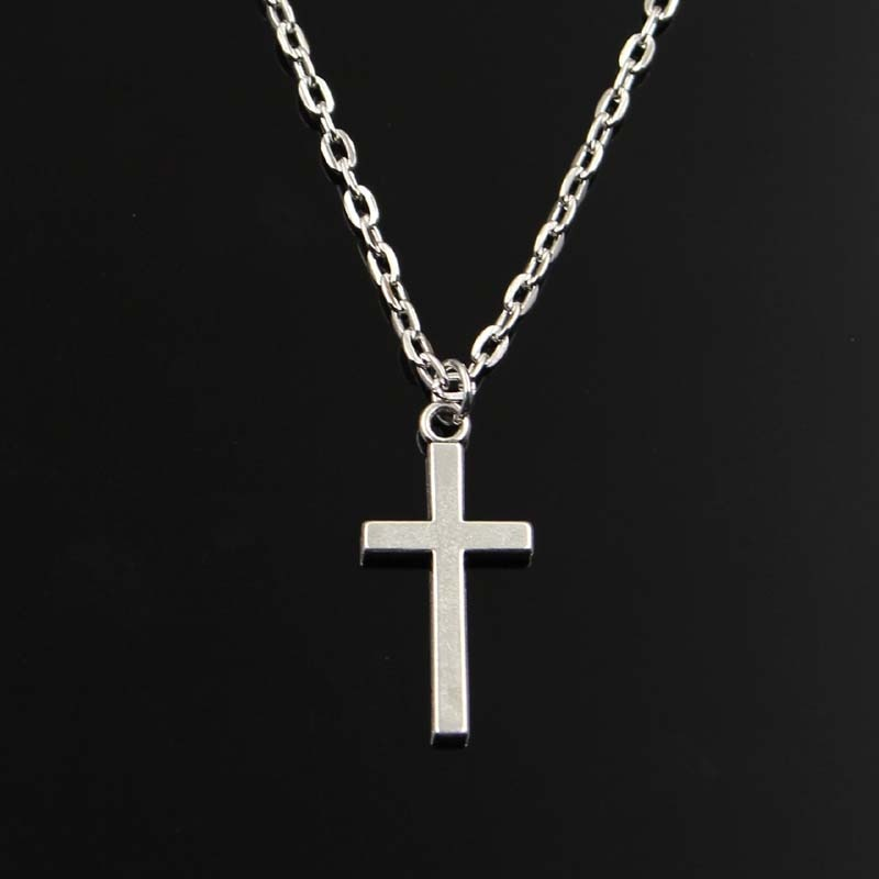 Double Sided Cross Chain Necklace