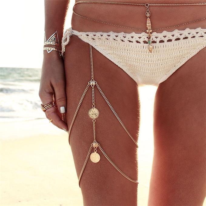 Women's Boho Style Double Layer Leg Chain