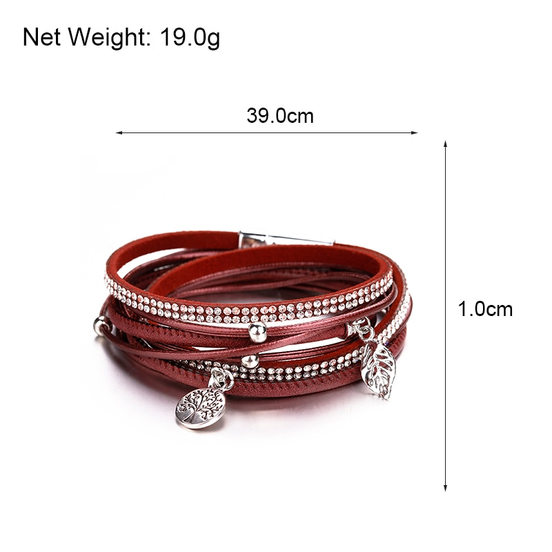 Women's Boho Multilayered Wrap Bracelet with Charms