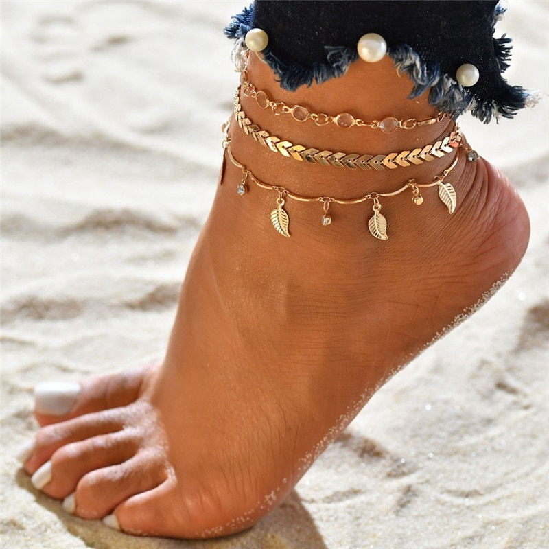 Women's Fashion Anklets Set